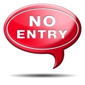 7 January 2013 NO entry
